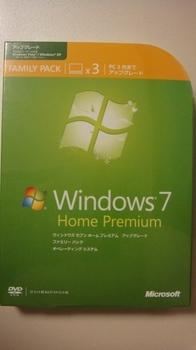 Windows 7 Home Premium ファミリーパック
